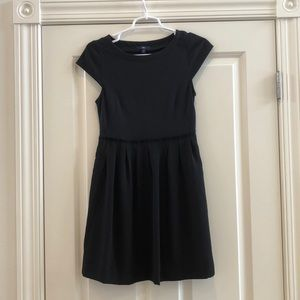 Black Gap short dress with capped sleeves